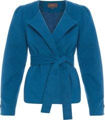 casaco feminino delphine - azul