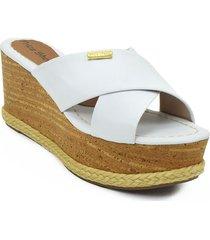 sandalia plataforma para dama color blanco 462delimablanco