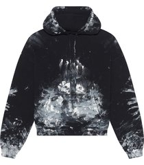 painter fitted hoodie black and white