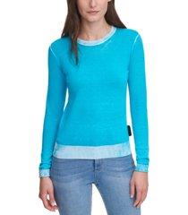dkny jeans contrast-trim cotton sweater