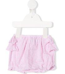 siola striped ruffled bloomer shorts - pink