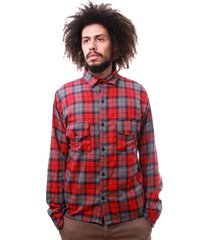 camisa andy roll clothing flanela bells vermelho - kanui