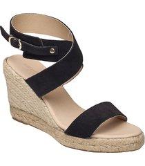 high heel espadrilles sandalette med klack espadrilles svart ilse jacobsen