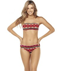 bikini strapless reversible multicolor lisantino