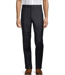 armani collezioni men's solid virgin wool trousers - solid dark - size 54 (38)