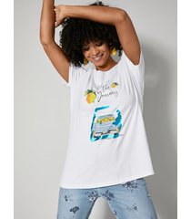 shirt angel of style wit::geel::blauw