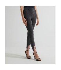 calça legging metalizada   just be   preto   pp