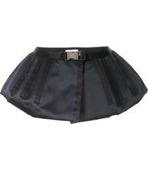 prada pre-owned silk loincloth peplum belt - black