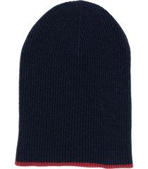 brunello cucinelli fine knit beanie - blue