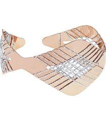 bracciale bangle small in bronzo bicolore per donna