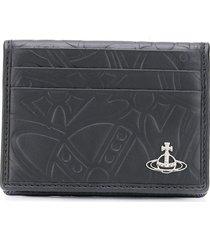 vivienne westwood embossed card holder - black