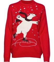 bynoel polar jumper - stickad tröja röd b.young