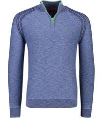 new zealand pullover methven blauw melange