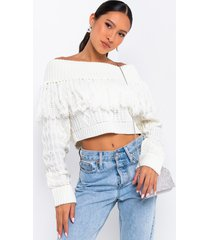 akira bobbi off-shoulder sweater