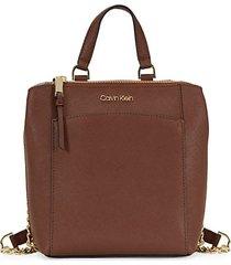 hayden top-zip leather backpack