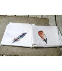 bieżnik drukowany - kolorowe piórka