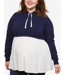 motherhood maternity plus size layered-look sweatshirt