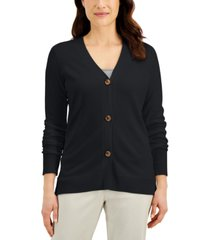 karen scott v-neck cardigan, created for macy's
