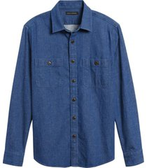 camisa denim azul banana republic