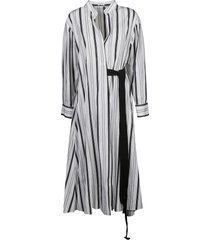 brunello cucinelli tie-waist striped dress