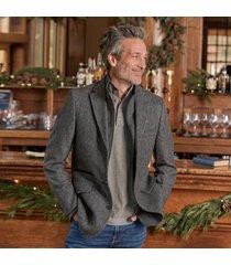 sundance catalog men's anderson jacket in gray hrngbn 42 regular
