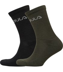 2pk wool sock underwear socks regular socks multi/mönstrad bula