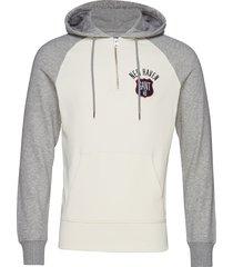 d1. graphic half zip hoodie hoodie trui crème gant