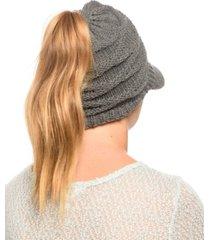 angela & william messy bun ponytail beanie with visor