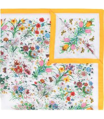 gucci pre-owned floral print scarf - white