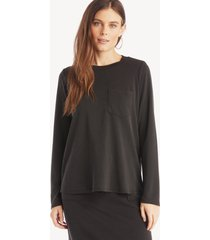 the good jane women's franco long sleeve top in color: black size xs from sole society