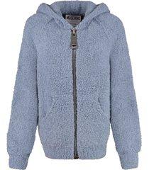 moschino bouclé knit sweatshirt