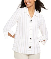 jm collection seamed crinkle jacket, created for macy's