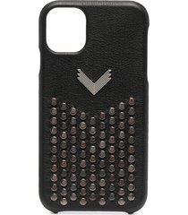 manokhi stud-embellished iphone 11 case - black