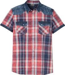 camicia a maniche corte slim fit (rosso) - rainbow