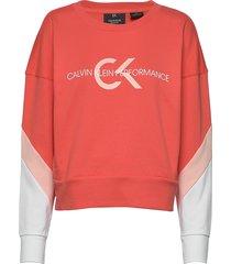 pullover sweat-shirt trui rood calvin klein performance