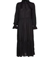 kathea midi dress maxiklänning festklänning svart kaffe
