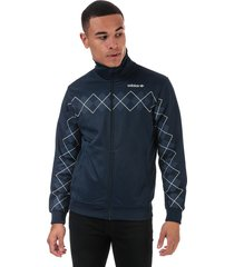 mens argyle track top
