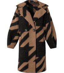 oversized woven coat camel
