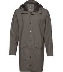 long jacket regenkleding grijs rains