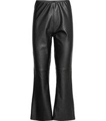 batisz pants leather leggings/byxor svart saint tropez