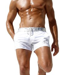 bañador para hombre- pantalones de playa de secado rápido para-blanco