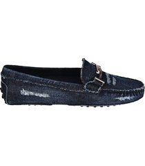 gommini doppia t jeans loafers