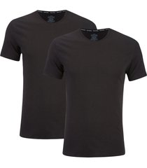 calvin klein men's 2 pack crew neck t-shirt - black - l