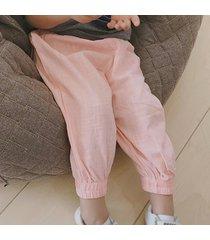 children's caual pantalones sueltos de algodón y pantalones