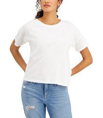 style & co solid cropped top, created for macy's