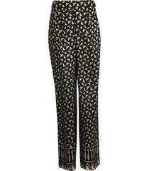 alberta ferretti geometric printed trousers