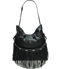 frye small sacha concho fringe leather hobo bag -