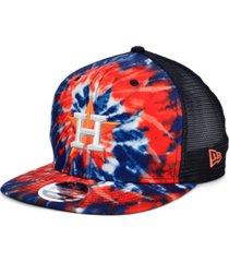 new era houston astros tie dye mesh back 9fifty cap