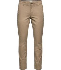 slhstraight-newparis flex pants w noos chinos byxor beige selected homme