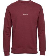 lens sweatshirt sweat-shirt trui rood les deux